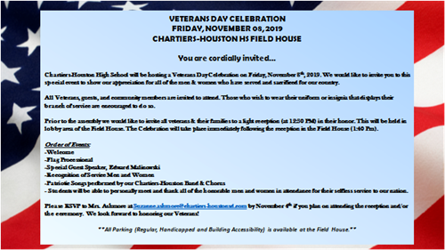 Veterans Day Celebration Invite